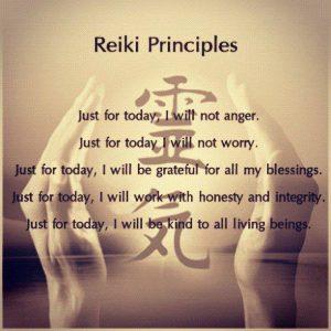 reiki precepts