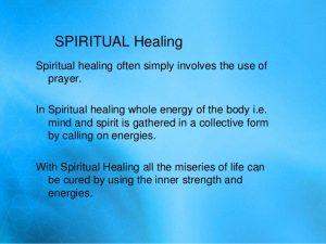 spiritual healing definition